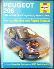 Peugeot 206 (petrol & diesel) Haynes Workshop Manual from 1998 to 2001.