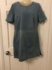 A Line Denim Dress Light Blue French Connection Size 10 NWT