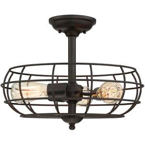 Savoy House 1-8075-3-13 Scout 3 Light Semi Flush Mount Ceiling Fixture Bronze