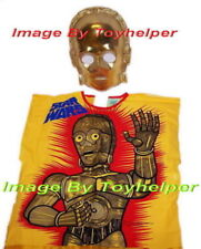 Star Wars C-3PO Golden Robot Halloween Costume & Mask Lg 12-14 NIB 1977