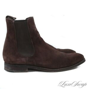#1 MENSWEAR Carmina Mallorca 1113703 Chocolate Suede Chelsea Boots Shoes 9.5 NR