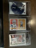 2002 TOM BRADY LOT OF 3 TOPPS PRISTINE, HERITAGE, AND UPPER DECK AUTHENTICS