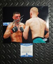 Nate Diaz 8X10 Signed UFC Photo vs Conor McGregor Beckett Authenticated w Proof
