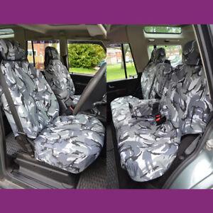 Land Rover Discovery 2 Imperméable Gris Camouflage Avant Noarmrests Rear 5 Siège