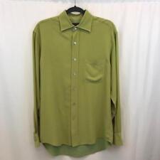 Tori Richard $128 Men's 100% Silk Green Long Sleeve Button Up Shirt Sz S