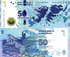 ARGENTINA 50 Pesos Banknote World Money Currency Sth America BILL NEW 2015 Note