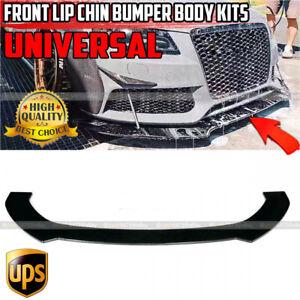 Black For AUDI A3 A4 A5 S3 S4 S5 RS5 S-line Front Lip Bumper Spoiler Splitter
