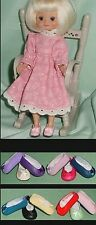 DOLL Shoes, 24mm LIGHT PINK Slip on Flats fit Kish Ellery, Tiny Betsy AGA Fairy