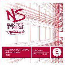 D'Addario NS Electric Violin Single E String, 4/4 Scale, Medium Tension