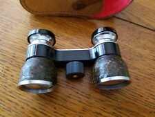 OPERA GLASSES-BINOCULARS-GERMAN-LEATHER CASE-FINE-USED