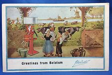 c 1910 MELLOTTE CREAM SEPARATOR Co Belgium Advertising Postcard Windmill Antique
