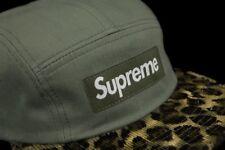 5e004004193 SUPREME SAFARI LEOPARD CAMP CAP OLIVE FW11 2011 HAT cdg paisley floral box  logo