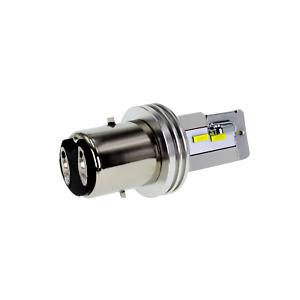 Lampe Birne Bulb Bilux LED warm 4300K BA20D S2 12V DC 25W 35W Roller Motorrad