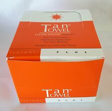Tan Towel Half Body Towelettes in Display Box | PLUS | PACK OF 50