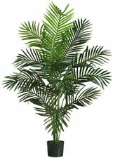 Silk Palm Tree 5 Ft Artificial Faux Indoor Tropical Home Decor Decorative Plant