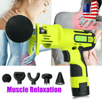 Percussion Massage Gun Deep Tissue Massager Muscle Therapy Vibrating Relaxing