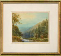 W. Mitchell (fl.1900) - Signed Early 20th Century Watercolour, The Doone Valley