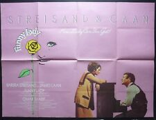 FUNNY LADY ORIGINAL CINEMA 1975 QUAD POSTER BARBRA STREISAND JAMES CAAN