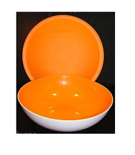 Tupperware Chic Dining Radiance 3 Cup Bowl & Seal Set White Orange Rare New