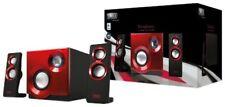 Sweex Sp211 - sistema de altavoces 2.1 60 vatios color rojo