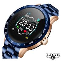 LIGE Smart Watch Men Waterproof Sport Heart Rate Blood Pressure Fitness 2020 NEW