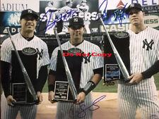 Aaron Judge Giancarlo Stanton Gary Sanchez Signed NY Yankees 8x10 Photo Reprint