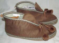 Deer Stag Mutsy Tassel Brown Micro Suede Slipper Booties Boots Womens Size 10 M