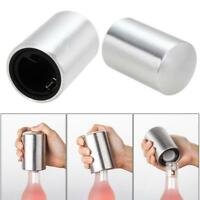 Stainless Steel Automatic Bottle Opener Push Down Beer Soda Cap Wine Home Bar