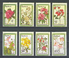 W EQUATORIAL GUINEA 1565A-1572A FLOWERS PERFORATED SET