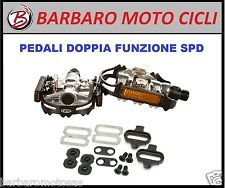 3 PAIA PEDALI MTB DOPPIA FUNZIONE SPD DUAL FUNCTION UNIVERSAL PALESTRA SPINNING