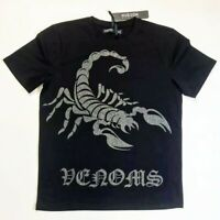Hudson Outerwear men's LARGE SS TEE 100%AUTHENTIC Black Scorpion 1of1 Rare New