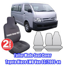 Custom Made Seat Covers For Toyota Hiace LWB Van 03/2005-2014 Front ROW Grey