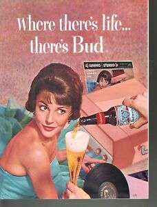 Where There's Life There's Bud 1959 Advertising Budweiser Beer Sheet Music