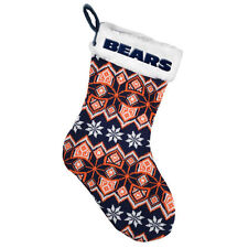Chicago Bears Knit Christmas Tree Stocking