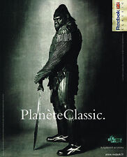PUBLICITE ADVERTISING 075  2001  REEBOK   chassures baskets PLANETE CLASSIC