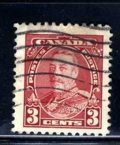 1935 Canada 3c dk carmine Stamp  Scott # 219/A81 Canc/VLH