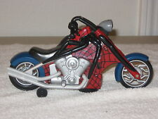 SPIDERMAN CHOPPER STYLE MOTORCYCLE 3RD WHEEL MOVES BIKE WITH HEADLIGHT