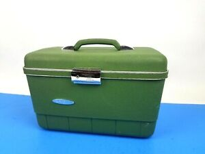 Vintage Sears Forecast Make-up Case Container Luggage Box Mirror Divider Tray