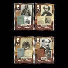Gibraltar 2012 - Dickens 200th Anniversary Writer Fine Art Famous People - MNH