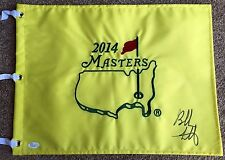 BUBBA WATSON Signed Autographed 2014 Masters Pin Flag, Augusta National, JSA