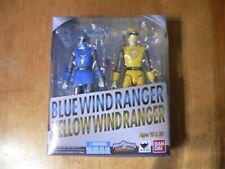 BANDAI S.H.FIGUARTS POWER RANGERS NINJA STORM BLUE & YELLOW WIND RANGERS  IN BOX