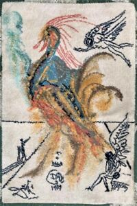 "Great Vintage Salvador Dali Rug ""Le Grand Pavon"" 1979 Ege Art Line"