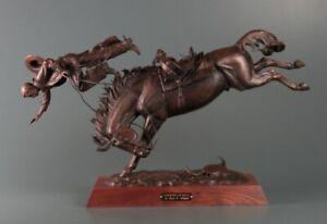 Steve Lillegard A Parting of Ways Bucking Horse with Cowboy Bronze Sculpture