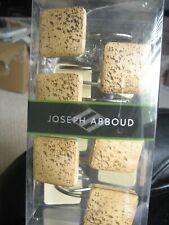 Joseph Abboud Set of 12 Shower Curtain Hooks Light Brown NIP
