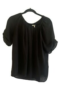 joie medium black silk blouse
