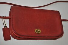 Vintage Coach Leather Shoulder Crossbody Messenger Bag in Red No. 404-5549 USED