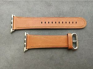 Genuine Original Apple Watch Band Saddle Brown Classic Buckle 42mm (3rd version)
