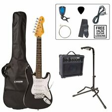 Encore 3/4 Size Electric Guitar Pack - Gloss Black