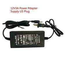 12V3A Power Adapter AC100-240V to DC12V 3A Power Supply US Plug For LCD Monitor