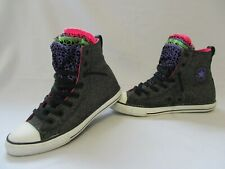 CONVERSE All Star Chuck Taylor High Top Trainers, Black Glitter, UK 5, Eur 38